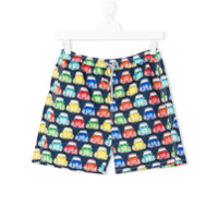 Mc2 Saint Barth Kids TEEN printed swim shorts - Multicolour