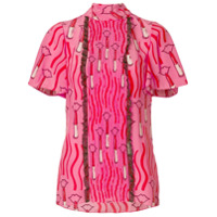 Valentino lipstick waves print top - Unavailable
