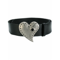 Gucci heart buckle belt - Black