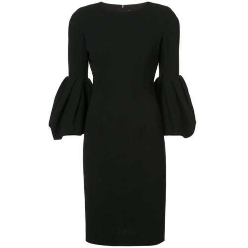 Billede af Carolina Herrera bell sleeve dress - Black