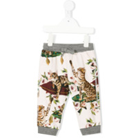 Dolce & Gabbana Kids printed drawstring-waist pants - Pink & Purple