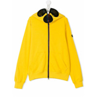 Ai Riders On The Storm Kids TEEN contrast hoodie - Yellow & Orange
