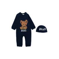 Philipp Plein Junior Teddy pajamas - Blue