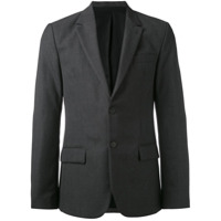 Ami Alexandre Mattiussi Lined Two Button Jacket - Grey