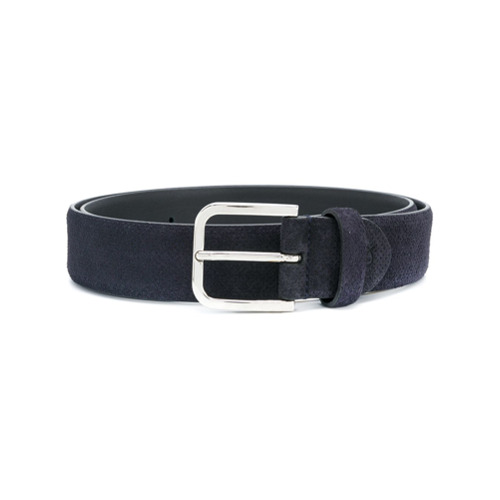 Canali classic buckled belt - Blue