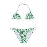 Mc2 Saint Barth Kids TEEN cactus print bikini set - Green