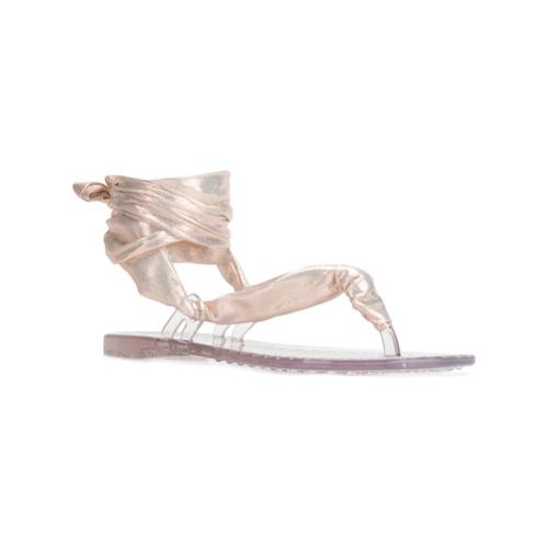 Bild på Casadei ankle tie sandals - Metallic