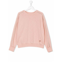 Bellerose Kids TEEN contrast piped trim sweatshirt - Pink & Purple
