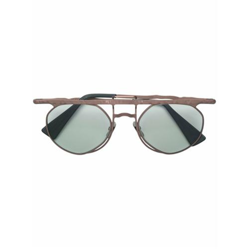 Billede af Kuboraum aviator-style glasses - Brown
