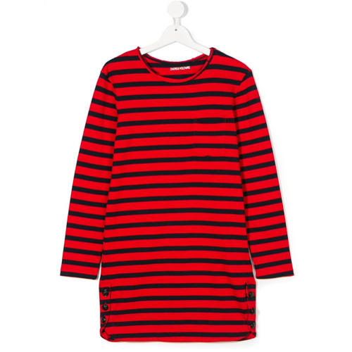 Billede af Zadig & Voltaire Kids button detail dress - Red