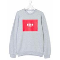 Msgm Kids logo print sweatshirt - Grey