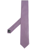 Gieves & Hawkes embroidered tie - Pink & Purple