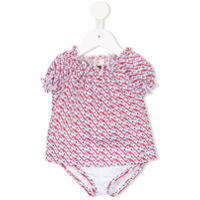 Armani Junior short-sleeve printed bodysuit - Red