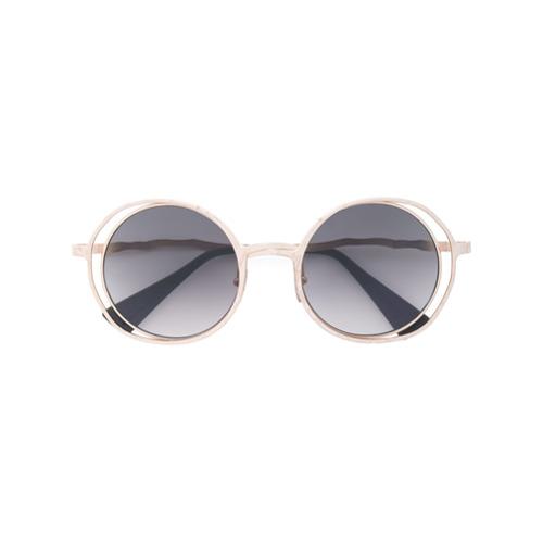 Billede af Kuboraum crooked arm sunglasses - Metallic