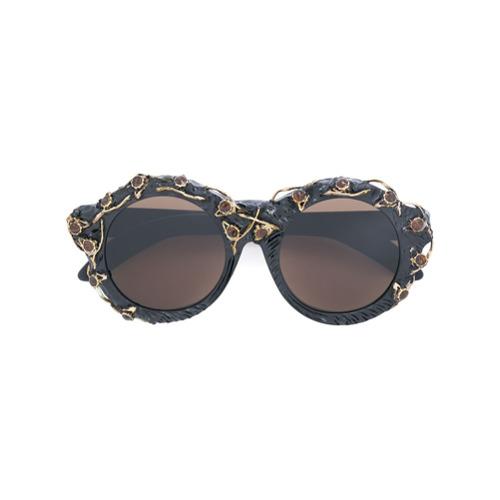 Billede af Kuboraum embellished sunglasses - Black