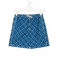 Mc2 Saint Barth Kids TEEN shark print swim shorts - Blue