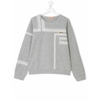 Nº21 Kids TEEN lace detail sweatshirt - Grey