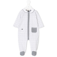 Armani Junior printed pyjama - White