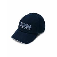 Boss Kids embroidered logo cap - Blue