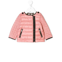 Burberry Kids quilted padded jacket - Pink & Purple