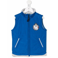 Lapin House logo patch gilet - Blue