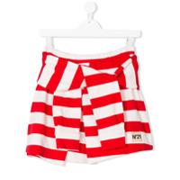 Nº21 Kids TEEN striped tied design skirt - Red