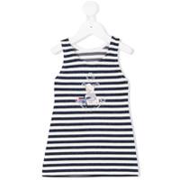 Lapin House glitter striped dress - White