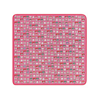 Gucci Kids Gucci pets print cotton baby blanket - Pink & Purple