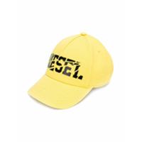 Diesel Kids printed cap - Yellow & Orange