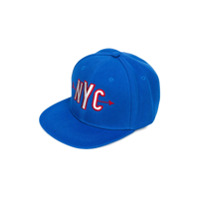 Woolrich Kids NYC embroidered cap - Blue