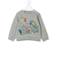 Burberry Kids printed sweatshirt - Grey