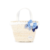 Miki House embellished tote bag - White