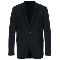 Neil Barrett black satin trimmed double button dinner jacket - Blue