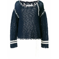 Philosophy Di Lorenzo Serafini contrast stitch sweater - Blue