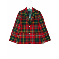 Oscar De La Renta Kids plaid blazer - Red