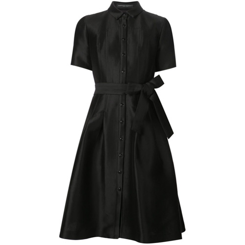 Billede af Carolina Herrera belted shirt dress - Black