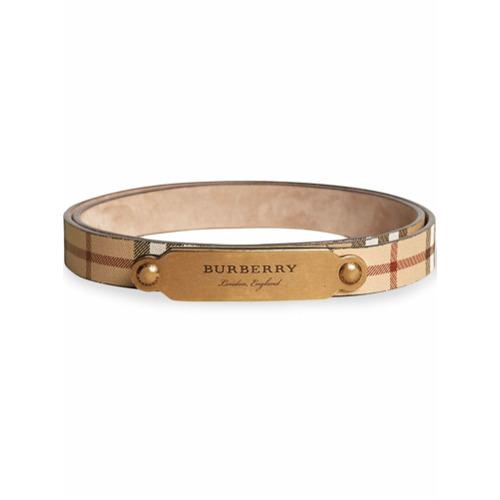 Burberry plaque buckle Haymarket Check belt - Brown