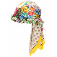 Gucci Gucci invite and floral print turban - Multicolour