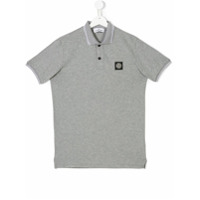 Stone Island Junior logo patch polo shirt - Grey
