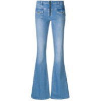 Victoria Victoria Beckham faded flared jeans - Blue