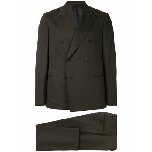 Billede af Caruso double breasted two piece suit - Brown