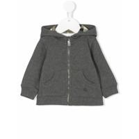 Burberry Kids hooded zip jacket - Grey