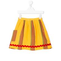 Bobo Choses striped pocket skirt - Yellow & Orange