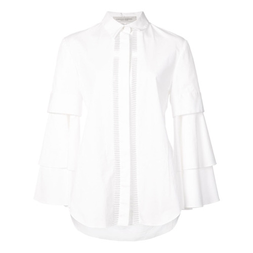 Billede af Carolina Herrera Bell sleeve shirt - White