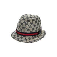 Gucci Kids GG Supreme trilby hat - Nude & Neutrals