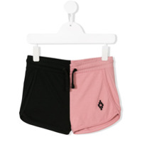 Marcelo Burlon County Of Milan Kids cross embroidered track shorts - Pink & Purple