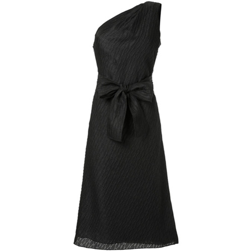 Billede af Carolina Herrera asymmetric tweed column dress - Black