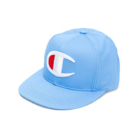 Champion logo embroidered cap - Blue