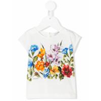 Dolce & Gabbana Kids floral print T-shirt - White