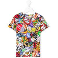 Moschino Kids patchwork print T-shirt - Multicolour